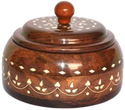 Onlineshoppee Wooden Decorative Platter(Brown)