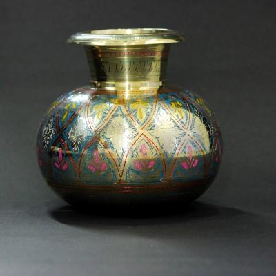THE HOLY MART BIG KALASH Brass Decorative Platter