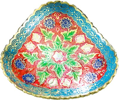 THE HOLY MART CHARMING RED BLUE PLATE Brass Decorative Platter