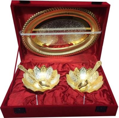 Craft India Brass Decorative Platter