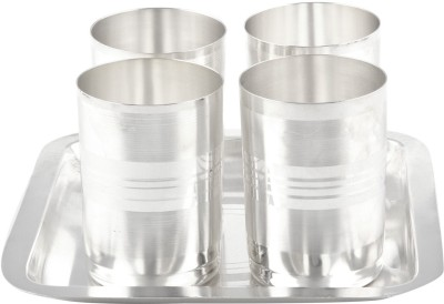 GS Museum Pack of 5 Dinner Set(Silver Plated)