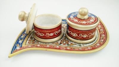 Govindam Marble Dry fruits Tray Stoneware Decorative Platter