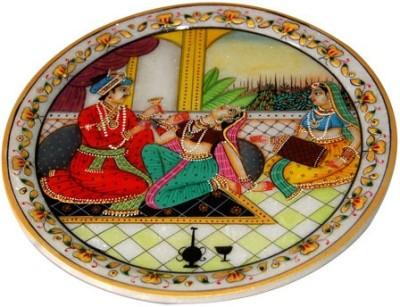 RajLaxmi Relive Mughals Era With Marble Plate Stoneware Decorative Platter