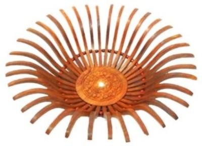 Gaura Art & Crafts Wooden Decorative Platter(Brown)