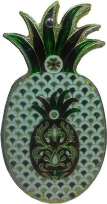 SportsHouse Handicraft Pineapple Dry Fruit Silver Plated Decorative Platter