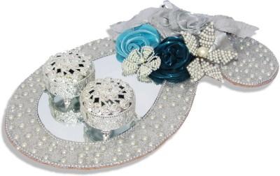 WeddingPitara Glass Decorative Platter