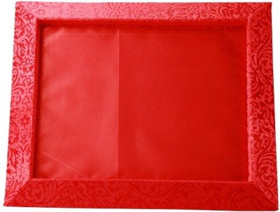 paras kraft Wooden Decorative Platter(Red)