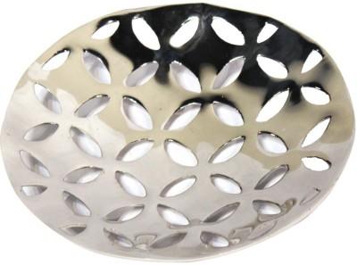 Craftghar Ornate Mesh Platter- Round Embellished Aluminium Tray