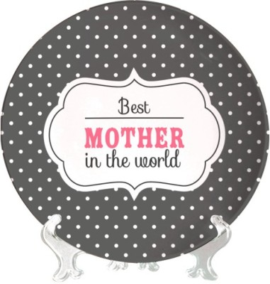 Giftsmate Best Mom in the World Ceramic Decorative Platter