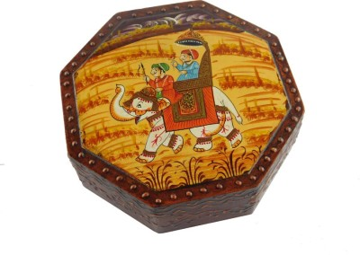 Chave SupariDaan / Dry fruit box with four partition ( Size – 6X6 inch) Wooden Decorative Platter