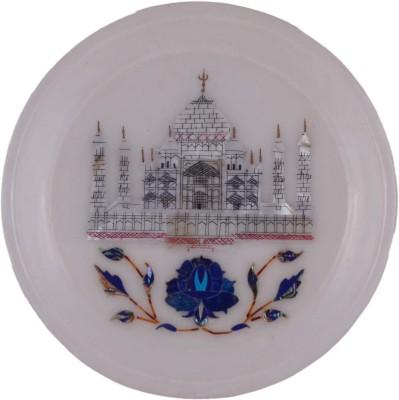 Kaku Overseas Marble plate seap work Stoneware Decorative Platter