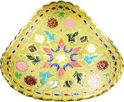 THE HOLY MART CHARMING GOLDEN PLATE Brass Decorative Platter