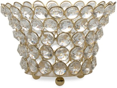 @home Copper Decorative Platter(Silver)