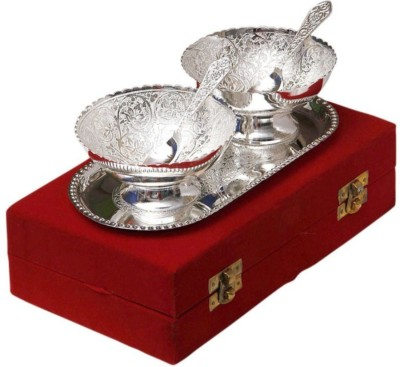 Being Nawab Silver Bowl Set Pack of 5 Dinner Set(Brass)