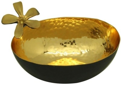 Imli Street Frangpani Bowl Small Round Brass Decorative Platter