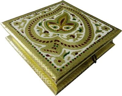 Excellent4U Traditional Meenakari Wooden Decorative Platter
