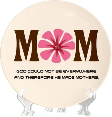 Giftsmate Mom Flower Ceramic Decorative Platter