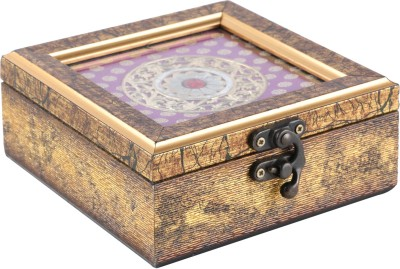 HASTKALA Wooden Decorative Platter