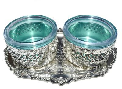Navisha Rajdhani Silver Plated Decorative Platter