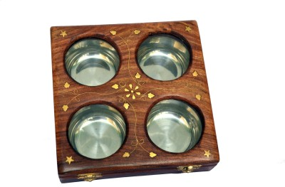 Woodino Handicrafts 1 Piece Condiment Set(Wooden, Steel)