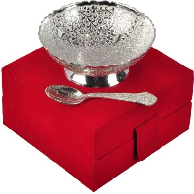 Inspiration World Silver Plated Bowl gift Set Brass Decorative Platter