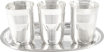 GS Museum Pack of 4 Dinner Set(Silver Plated)