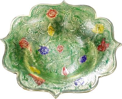 THE HOLY MART RAM MEGABRASS BOWL GREEN Brass Decorative Platter