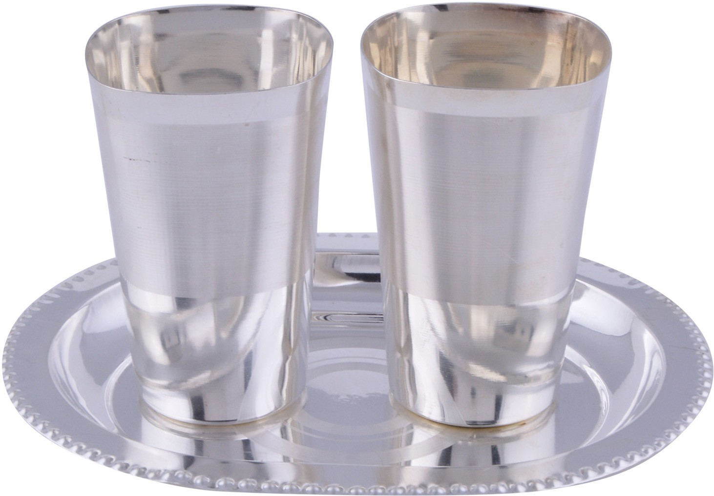 GS Museum Pack of 3 Dinner Set(Silver Plated)