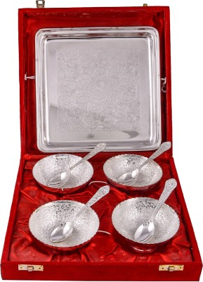 GS Museum Pack of 9 Dinner Set(Silver Plated)