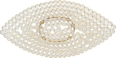 @home Plastic, Brass Decorative Platter(Gold)