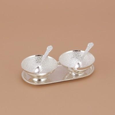 Being Nawab Sleek German Silver Brass Decorative Platter