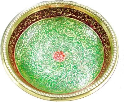 THE HOLY MART GOPI MINAKARI BOWL red Brass Decorative Platter