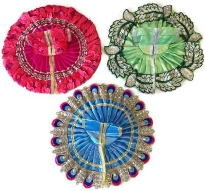 NG Handicrafts Laddu Gopal (No.4) Dress(Cotton, Silk)