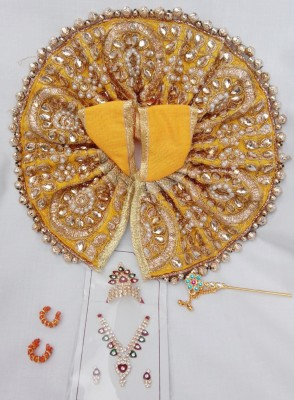 Mahashringar Laddu Gopal size(4,5) Dress(Silk)