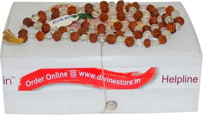 Divine Store Rudraksha Sphatik Mala Deity Ornament