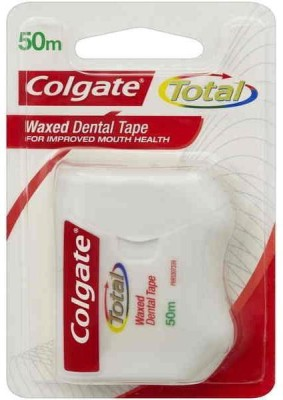 Colgate Waxed Dental Floss Ribbon/Tape (50m) - Plain