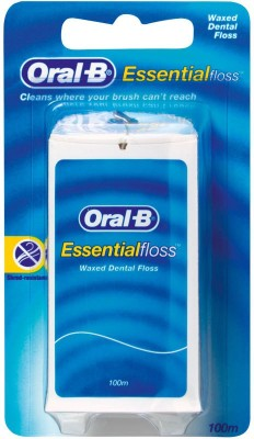 Oral-B Essential Waxed Dental Floss (100 M) - Plain