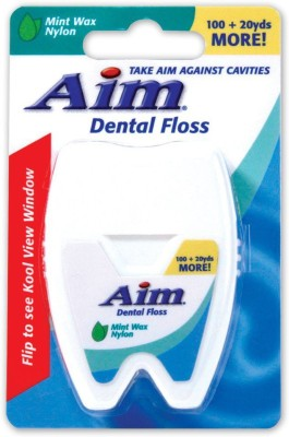 AIM Dental Floss Waxed (100+20 Yards More) - Mint