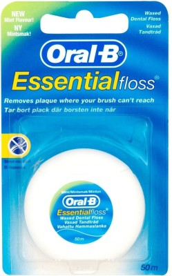 Oral-B Dental Floss Waxed Thread(Mint 50 M) - Mint