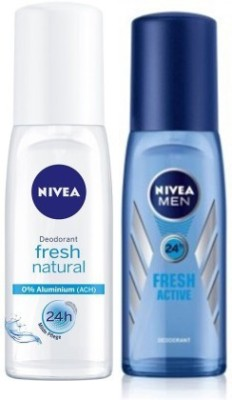 Nivea Fresh Active & Article No-81621 Combo Deodorant Roll-on  -  For Men
