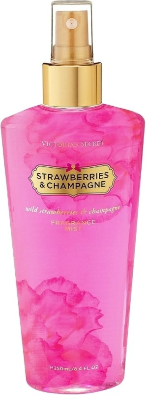 Victoria's Secret Strawberries & Champagne Fragrance Body Mist  -  For Women(250 ml)