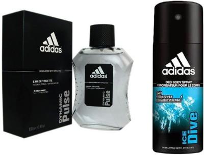 Adidas Lavish Life Combo's In Dynamic Pulse EDT & Ice Dive Deo Body Spray  -  For Boys, Men
