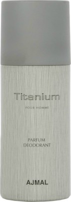 Ajmal Titanium Deodorant Spray  -  For Men