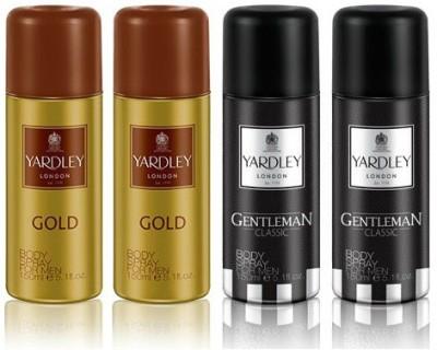 Yardley London Gold & Gentleman Body Spray  -  For Boys, Men