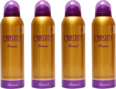 Rasasi 4 Chastity Women Deodorant Spray  -  For Women