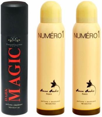Vincent Valentine Paris Dark Magic & Numero 1 Body Spray - For Men, Women(480 ml)