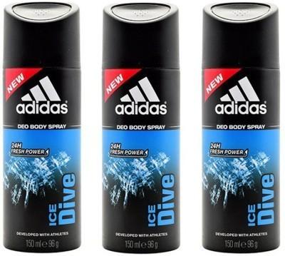 Adidas ice dive Deodorant Spray  -  For Men(450 ml) at flipkart