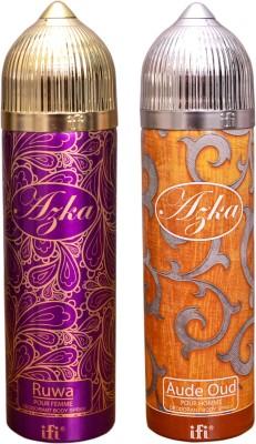 AZKA 1 RUWA::1 AUDE OUD Deodorant Spray  -  For Men, Women