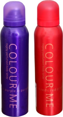 COLOR ME 1 PURPLE::1 RED DEO Deodorant Spray  -  For Women