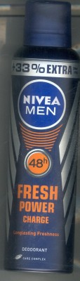 Nivea Fresh Power Charge Body Spray - For Men